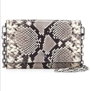 Tory burch Robinson Snake Leather Wallet